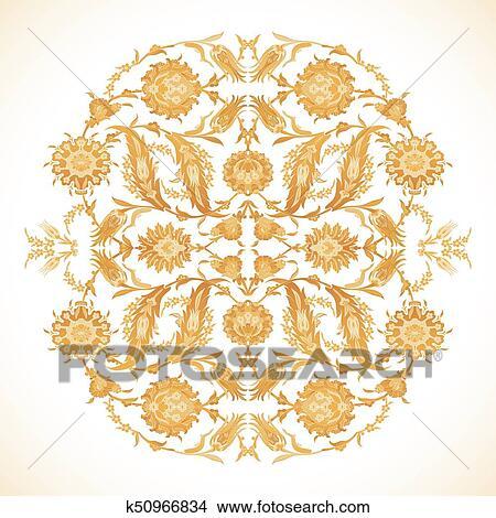 Arabesco Vindima Ouro Decoracao Padrao Ornato Para Desenho