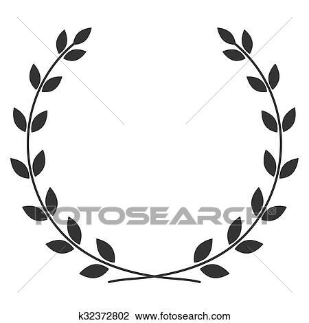 Clipart couronne laurier symbole k32372802 recherchez - Clipart couronne ...