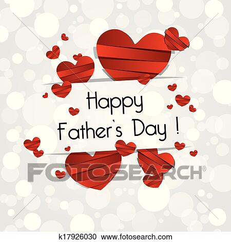 Clipart of happy fathers day greeting card k17926030 search clip clipart happy fathers day greeting card fotosearch search clip art illustration murals m4hsunfo