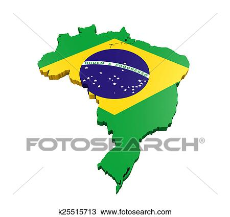 Mapa De Brasil Desenho K25515713 Fotosearch