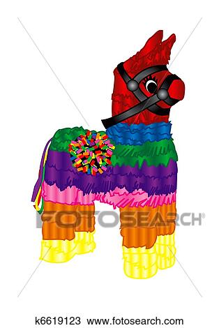 drawing of mexican party pinata k6619123 search clipart