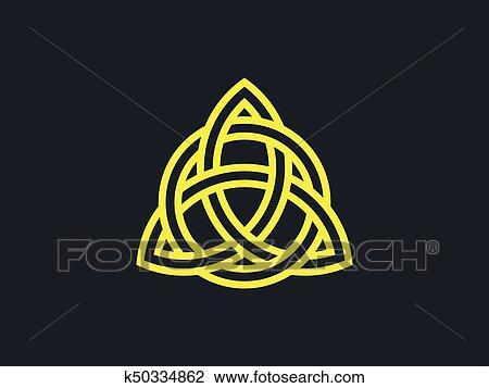 Triquetra  Trinity knot  Celtic symbol of eternity  Vector illustration  Clipart