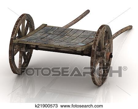 Dessin vieux chariot charrette bois k21900573 - Charrette dessin ...