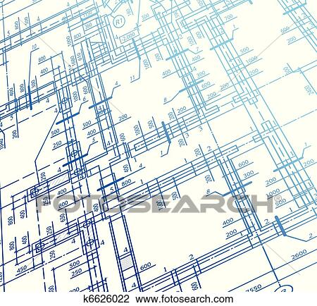 Clipart of Architecture house plan background. Vector k6626022 ...