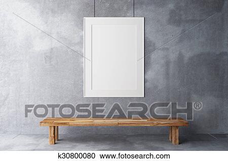 Banco de Fotografías - blanco, marco, en, el, galería, en, un, pared ...
