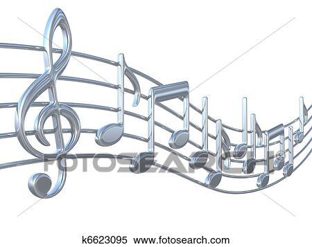 musik merkt, auf, dauben stock illustration   k6623095
