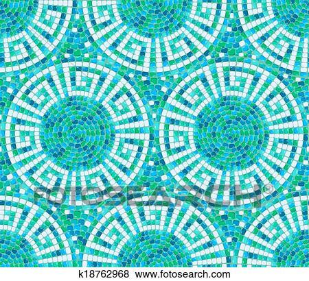 clip art seamless mosaik muster blau keramische fliese - Mosaik Muster
