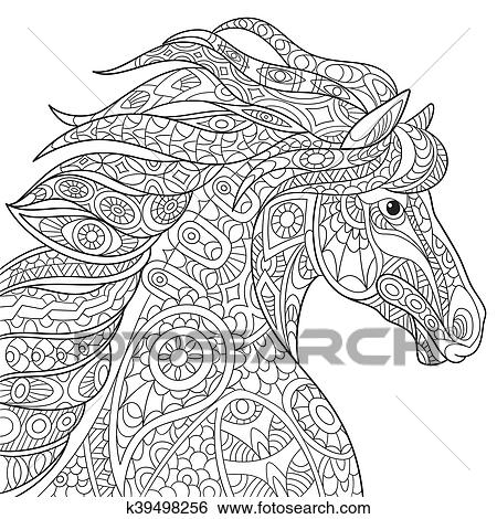 Stylized horse animal clip art k39498256 for Immagini cavalli stilizzati