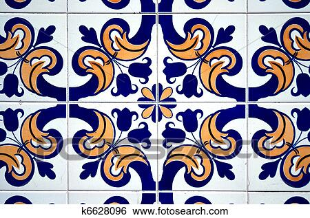 Colorful Vintage Spanish Style Ceramic Tiles Wall Decoration