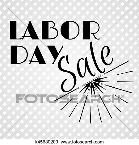 Black Sun Burst Labor Day A National Holiday Of The United States American Labor Day Celebration Retro Typographic Logos Vector Illustration Clip