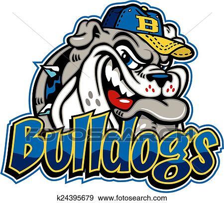 clip art of bulldog baseball mascot k24395679 search clipart rh fotosearch com bulldog football mascot clipart