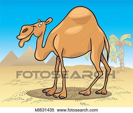 Clipart Cammello Dromedario Su Deserto K6631435 Cerca Clipart