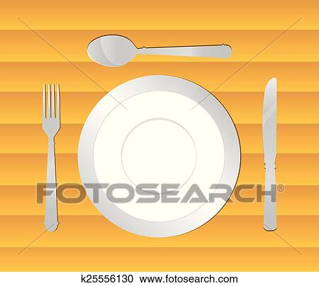Dining Table Background Vector Ilration