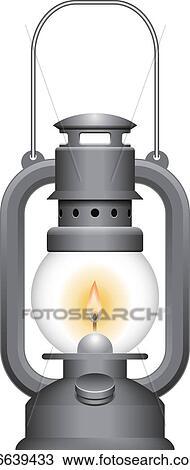 Clipart Of Old Kerosene Lamp K6639433