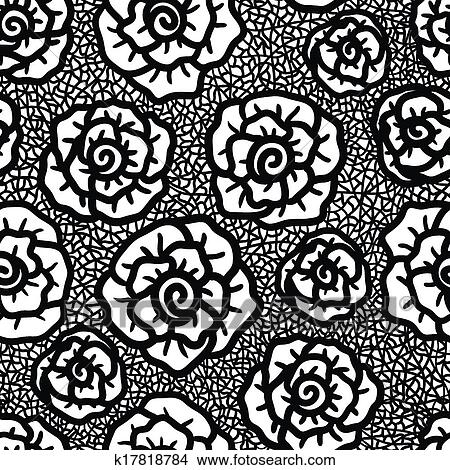 Seamless lace vector vector pattern, white retro ornamental repetitive  design with flowers - greeting card, textile design.   CanStock   470x450