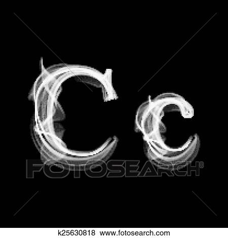 Clip Art Of Smoke Font Letter C K25630818 Search Clipart