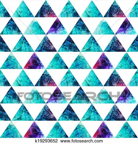 clip art of watercolor triangles seamless pattern modern hipster