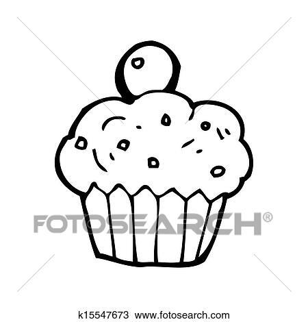 Dibujo - caricatura, cereza, cupcake k15547673 - Buscar Clip Art ...