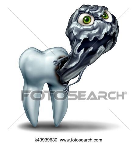 Colección de ilustraciones - diente, cavidad, monstruo k43939630 ...