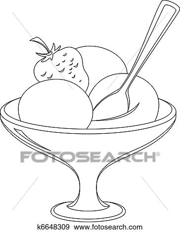 Clip Art Eis In A Blumenvase Konturen K6648309 Suche Clipart