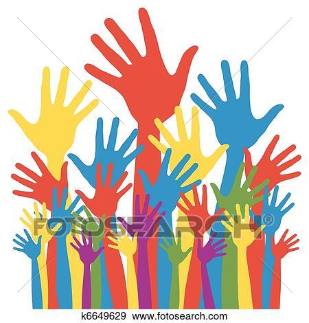 clip art of general election voting hands k6649629 search clipart rh fotosearch com election clip art free election clipart images