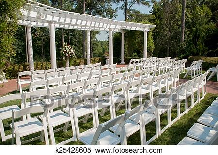 Outdoor Wedding Setup Stock Photography K25428605 Fotosearch