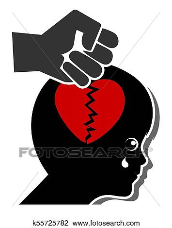 Clip Art Of Violence Kills Love K55725782 Search Clipart