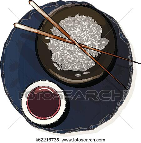 bowl with tasty soy sauce on stone plate top view vector clipart k62216735 fotosearch fotosearch