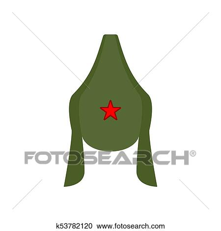 Budenovka retro cap Russian communist soldier isolated. Vintage hat Russian  military. Vector illustration c1e9cdf19f55
