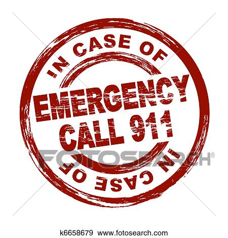stock illustration of emergency call 911 k6658679 search vector rh fotosearch com Call 911 Meme 911 Telephone Call Clip Art
