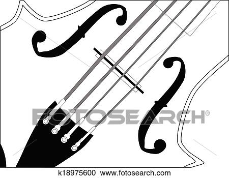 clipart of fiddle close up k18975600 search clip art illustration rh fotosearch com cat and fiddle clipart bass fiddle clipart