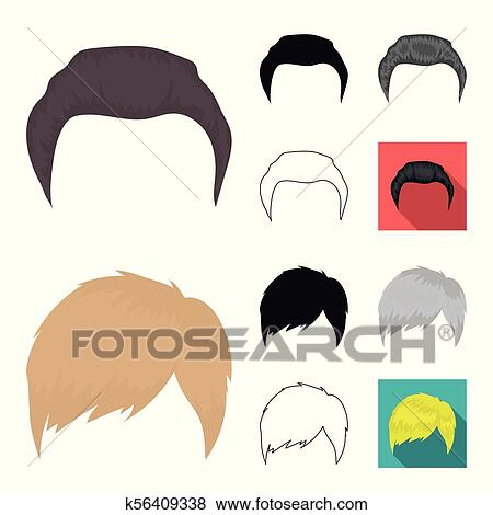 Mustache And Beard Hairstyles Cartoonblackflatmonochromeoutline