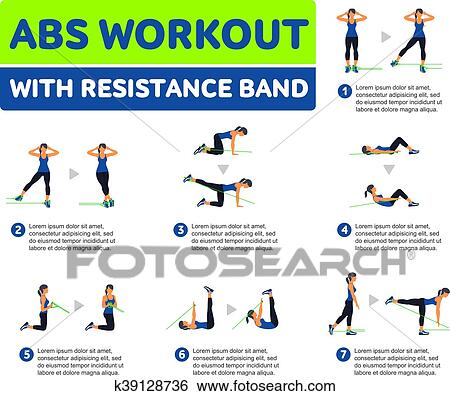 Aerobic Icons Abs Workout Clip Art K39128736 Fotosearch