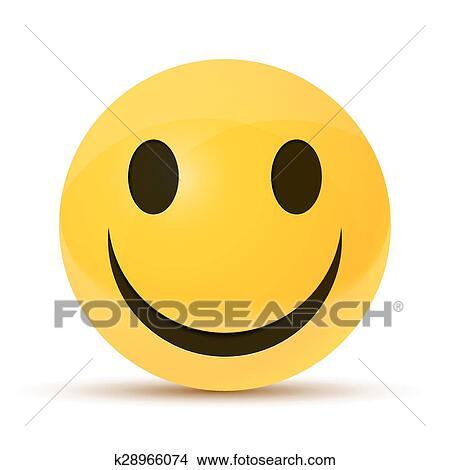 Clipart - amarillo, carita feliz. Fotosearch - Buscar Clip Art,  Ilustraciones de Murales