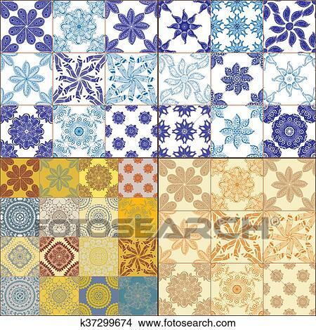 Dibujos Azulejos Piso Ornamento Coleccion K37299674 Buscar - Azulejos-con-dibujos