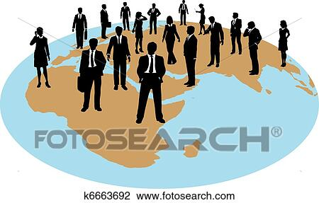 clipart of business people global work force resources k6663692 rh fotosearch com