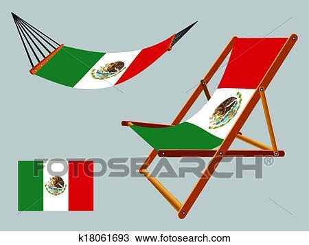 Sonnenstuhl clipart  Clipart - mexiko, hängemattte, und, sonnenstuhl, satz k18061693 ...