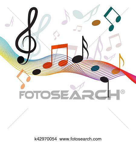 Musical Note Staff Color Clip Art - Color Music Notes Clipart Transparent -  Free Transparent PNG Clipart Images Download