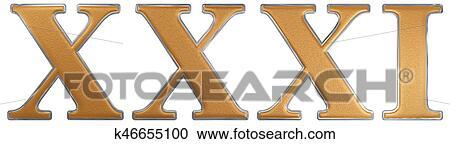 Colección De Ilustraciones Número Romano Xxxi Unus Et Triginta