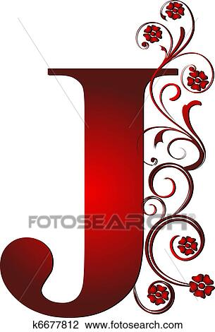 Clip Art Of Capital Letter J Red K6677812 Search Clipart