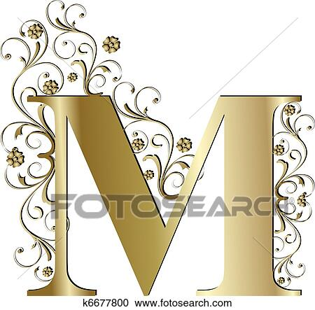 Capital Letter M Gold
