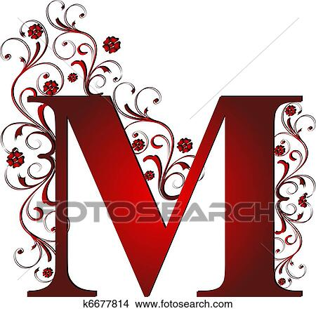 Drawings Of Capital Letter M Red K6677814 Search Clip Art