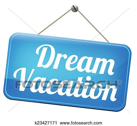 Clipart Of Dream Vacation K23427171