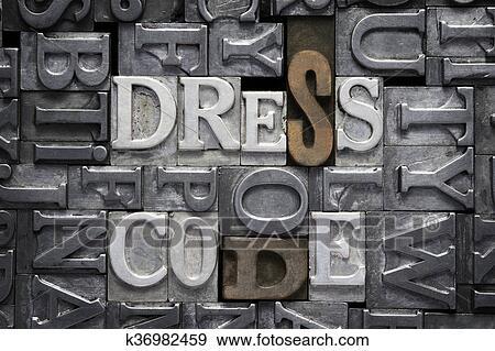 Posters Met Letter : Stock photograph of dress code met k search stock