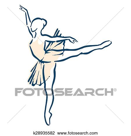 Femea Bale Desenho K28935582 Fotosearch