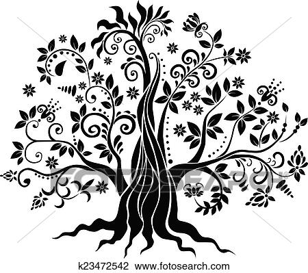 Clipart Of Fancy Tree K23472542
