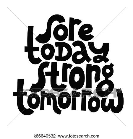 Fitness motivational quotes Clipart | k66640532 | Fotosearch