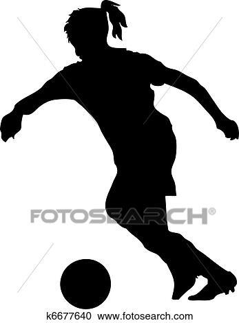 Fussballerin Clipart K6677640 Fotosearch