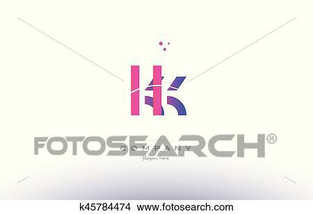 Clipart Of Kk K K Pink Modern Creative Alphabet Letter Logo Icon
