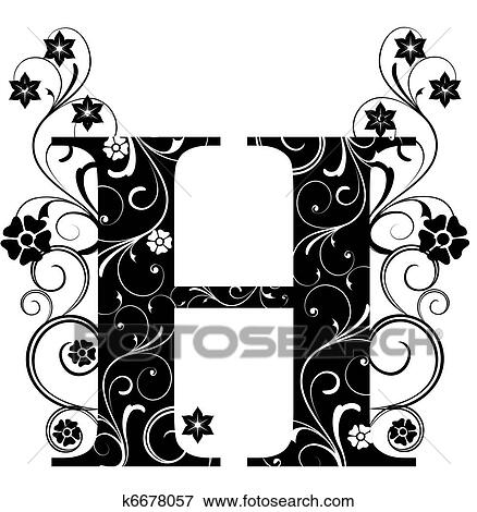 Stock illustration of letter capital h k6678057 search eps clipart letter capital h altavistaventures Choice Image